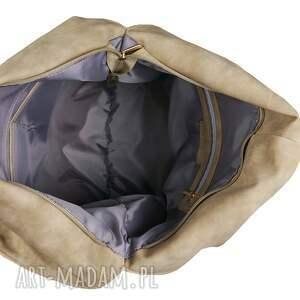 worek na zakupy torebka beżowy ćwieki