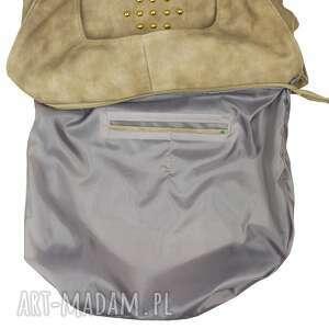 na zakupy worek torebka beżowy ćwieki