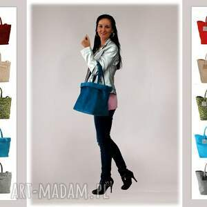 torebki-firmowe na zakupy 37-0003 turkusowa torebka shopper