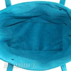 na zakupy torebki-firmowe 37-0003 turkusowa torebka shopper