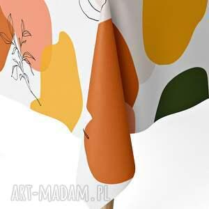 obrus pomarańczowe 120 x 160 cm matowy