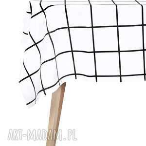 Obrus 130 x 180 cm Matowy wodoodporny Easy Iron Crata Kafle - krata minimalizm