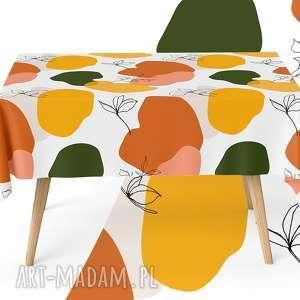 pomarańczowe nowoczesny obrus 130 x 130 cm matowy
