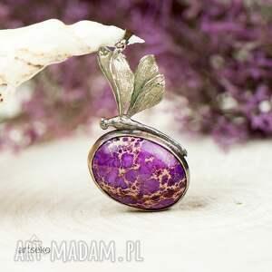naszyjnik-z-ważką naszyjniki fioletowe a612 ważka z fioletowym jaspisem