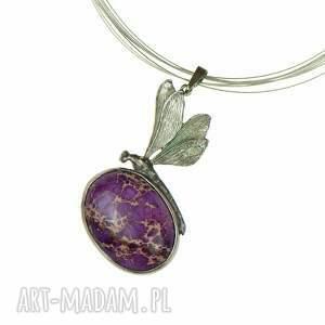 naszyjniki naszyjnik-z-ważką a612 ważka z fioletowym jaspisem