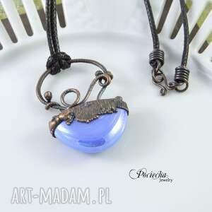 ręczne wykonanie naszyjniki naszyjnik abstrakcyjny błękit -