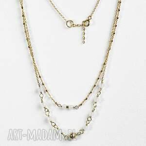 naszyjniki: Agat biały - srebro