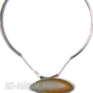 ręczne wykonanie naszyjniki naszyjnik agatowy naszyjnik: w beżowej