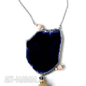 ręcznie robione naszyjniki agat agatowy wisior z łańcuszkiem: