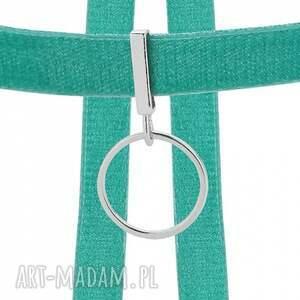 naszyjniki modny aksamitny choker w kolorze morskim
