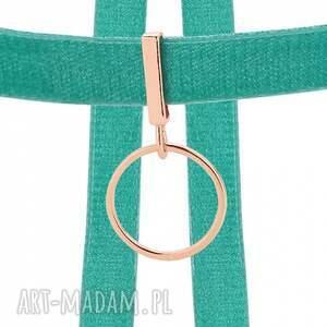 hand-made naszyjniki modny aksamitny choker w kolorze morskim