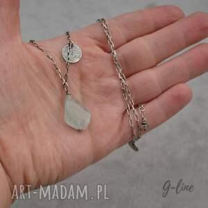 wyjątkowe naszyjniki akwamaryn z pastylkami. srebrny