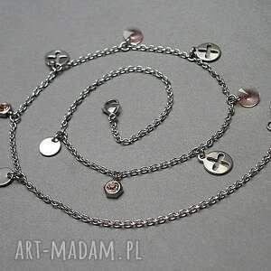 kryształki naszyjniki alloys collection - kółko i krzyżyk
