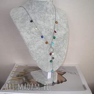 kolorowe naszyjniki stal szlachetna alloys collection - grochy