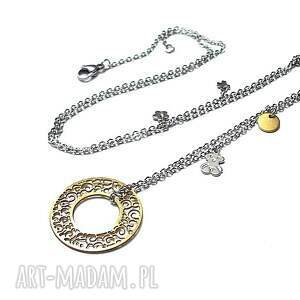 hand made naszyjniki stal alloys collection - line /circle