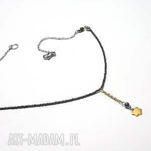 wyraziste naszyjniki stal szlachetna alloys collection - line /flower