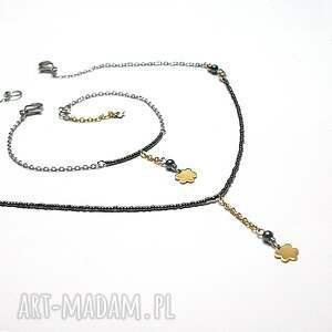 Ki Ka Pracownia Alloys Collection - Line /flower green/ - naszyjnik swarovski