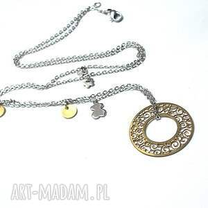 srebrne naszyjniki stal alloys collection - line /circle