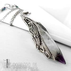 oryginalne naszyjniki srebro amethyst peak srebrny naszyjnik