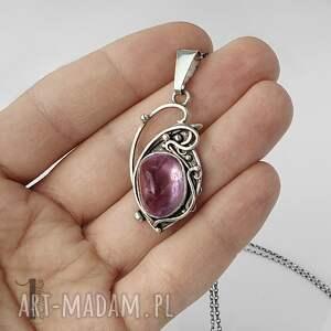 ręczne wykonanie naszyjniki lawendowy amulet - naszyjnik