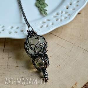 naszyjnik z wisiorem naszyjniki białe amulet