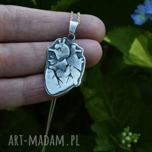 ręcznie wykonane naszyjniki serce biżuteria artystyczna dziki królik wykonana
