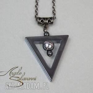 hematyt naszyjniki angelo naszyjnik trianglo