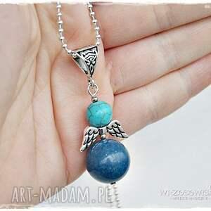 niebieskie naszyjniki naszyjnik anioł stróż