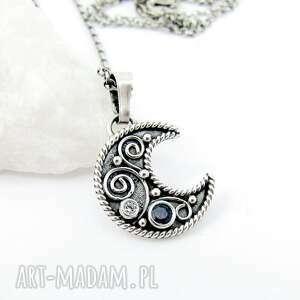 księżyc naszyjniki srebrne arabeski na księżycu z