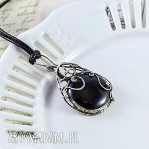 prezent naszyjniki aria - naszyjnik z czarnym szkłem