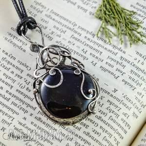 wyjątkowe naszyjniki wisior aria - naszyjnik z czarnym szkłem