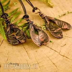 naszyjniki miedź ash tree seed - naszyjnik
