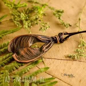 miedź naszyjniki ash tree seed - naszyjnik