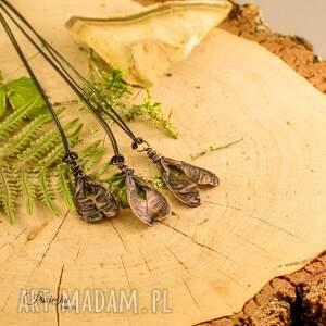 brązowe naszyjniki naszyjnik ash tree seed -