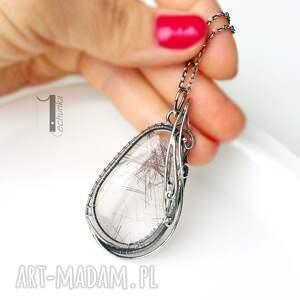 wire naszyjniki auril - srebrny naszyjnik z kwarcem