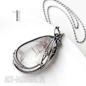 niesztampowe naszyjniki kwarc auril - srebrny naszyjnik z kwarcem