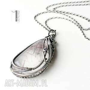 kwarc naszyjniki srebrne auril - srebrny naszyjnik z kwarcem