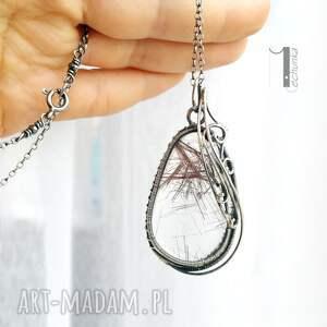 naszyjniki wire auril - srebrny naszyjnik z kwarcem