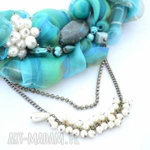 modne naszyjniki naszyjnik azzurro handmade