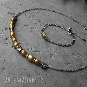 Cocopunk naszyjniki z perłami baroque - naszyjnik srebro