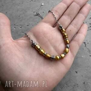 z perłami naszyjniki baroque - naszyjnik srebro