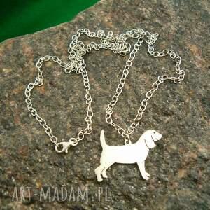 naszyjniki naszyjnik z-psem beagle srebro próby 925 (