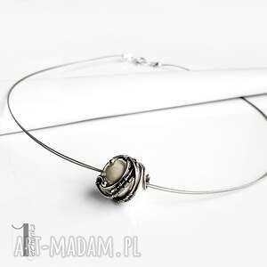 naszyjniki wirewrapping bianco ix naszyjnik srebrny z perłą