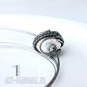 srebro naszyjniki białe bianco vii - naszyjnik z perłą