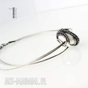 wirewrapping naszyjniki białe bianco viii - naszyjnik z perłą