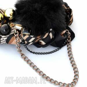 handmade naszyjniki naszyjnik black & gold