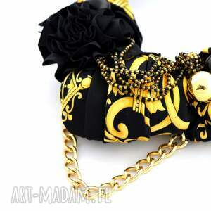 naszyjniki naszyjnik black & gold handmade
