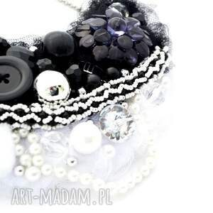handmade naszyjniki naszyjnik black & white
