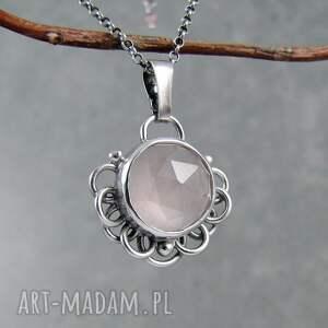 wyjątkowe naszyjniki romantyczny bloom kwarc różowy