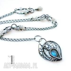 ręcznie robione naszyjniki naszyjnik blue bird - srebrny